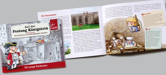 Buchgestaltung - Auf der Festung Königstein