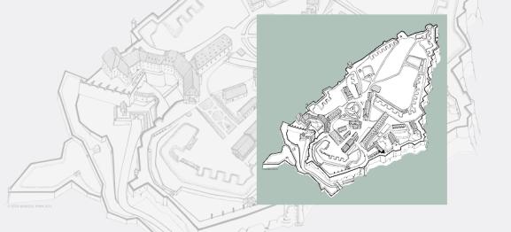 Isometrischer Plan der Festung Königstein